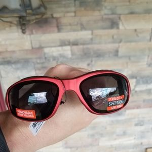 Red Padded Motorcycle Glasses Men Z87 Safety Work